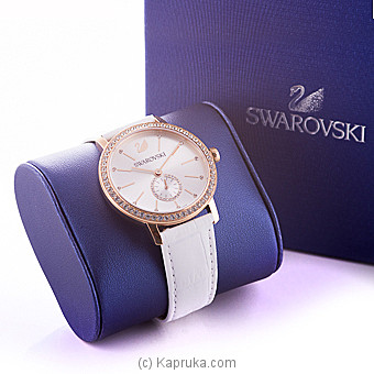 Swarovski Graceful Lady Watch, Leather Strap, White, Rose Gold Tone at Kapruka Online for specialGifts