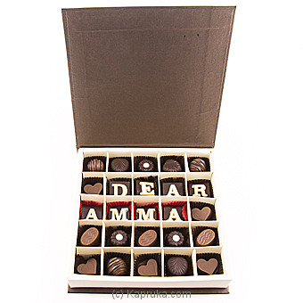 Java ` Dear Amma` 25 Piece Chocolate Box(White) at Kapruka Online for specialGifts