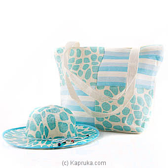 Summer Time Light Blue Bag With Hat at Kapruka Online for specialGifts