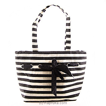 Summer Time Black Stripe Bag at Kapruka Online for specialGifts