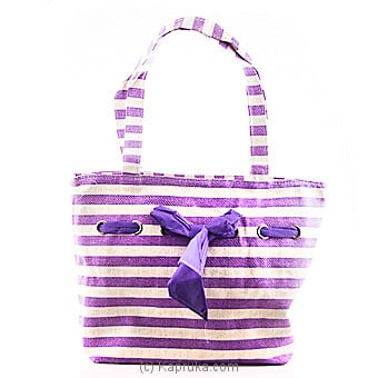 Summer Time Purple Stripe Bag at Kapruka Online for specialGifts