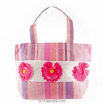 Summer Time Pink Flower Bag at Kapruka Online for specialGifts