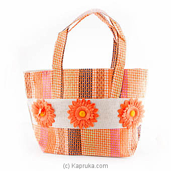 Summer Time Orange Flower Bag at Kapruka Online for specialGifts