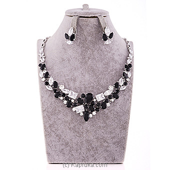 Black And White Crystal Jewelry Set at Kapruka Online for specialGifts