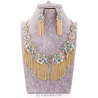 Elegant multi colour crystal Jewelry Set at Kapruka Online for specialGifts