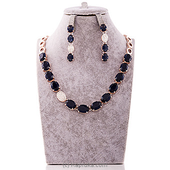 Royal Blue Crystal Jewelry Set at Kapruka Online for specialGifts