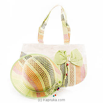 Summer Time Green Bow Bag With Hat at Kapruka Online for specialGifts