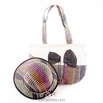 Summer Time Black Bow Bag With Hat at Kapruka Online for specialGifts