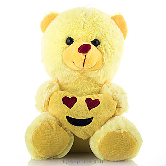 Cuddly Teddy With Smiling Face With Heart Eye Emoji at Kapruka Online for specialGifts