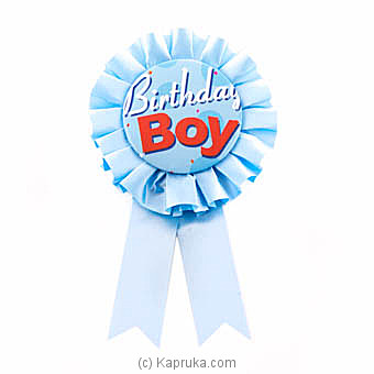 Birthday Boy Blue Award Ribbon at Kapruka Online for specialGifts