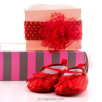 Princess pair of  Shoes With Hair Band at Kapruka Online for specialGifts