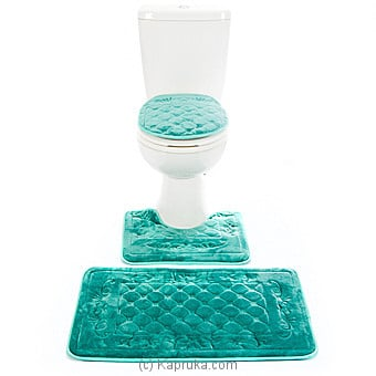 Bathroom Non-Slip Rug With Bath Mat And Toilet Seat Lid Cover Set at Kapruka Online for specialGifts