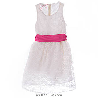 Flower Pattern Off White Lace Dress at Kapruka Online for specialGifts
