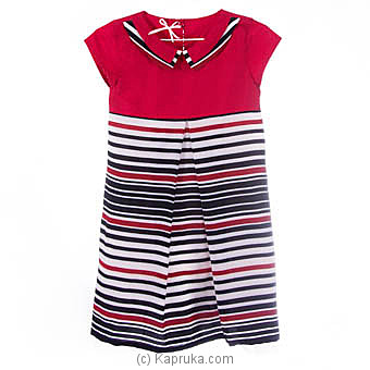 Red Top With Chiffon Stripes Dressat Kapruka Online forspecialGifts