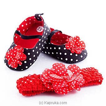 Pretty Princes Pair Of Shoes With Hair Band at Kapruka Online for specialGifts