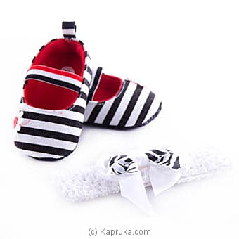 Infant Pair Of Shoes With Hairband at Kapruka Online for specialGifts