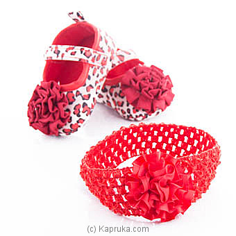 Red Infant Pair Of Shoes With Hairband at Kapruka Online for specialGifts