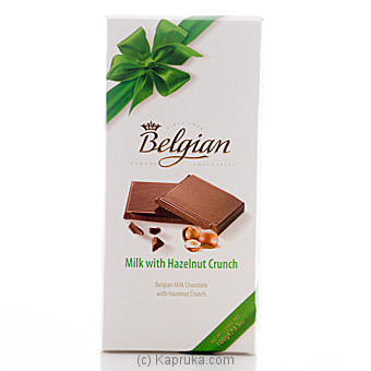 Belgian Milk Chocolate With Hazelnut Crunch- 100g at Kapruka Online for specialGifts