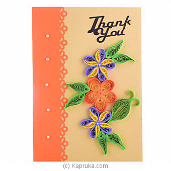 Handmade Thank You Greeting Card at Kapruka Online for specialGifts