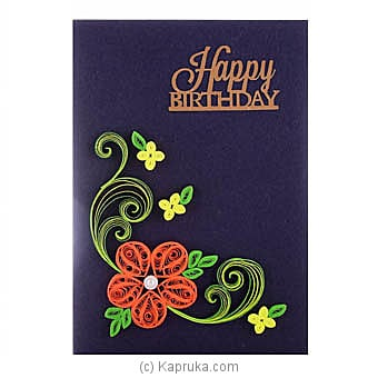Handmade Birthday Greeting Card at Kapruka Online for specialGifts