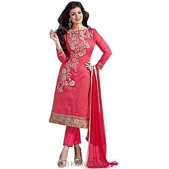Embroidered Semi Stitched Salwar Suit at Kapruka Online for specialGifts