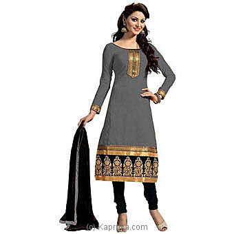 Cotton Embroidered Semi-stitched Salwar Suit at Kapruka Online for specialGifts