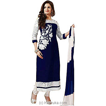 Shopeezo Georgette Self Design Semi-stitched Salwar Suit Dupatta Material at Kapruka Online for specialGifts