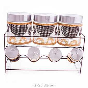 Home Basics Glass Canister Set With Airtight Lids at Kapruka Online for specialGifts