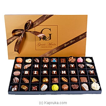 Happy Birthday 45 Piece Classic Wooded Chocolate Box(GMC) at Kapruka Online for specialGifts