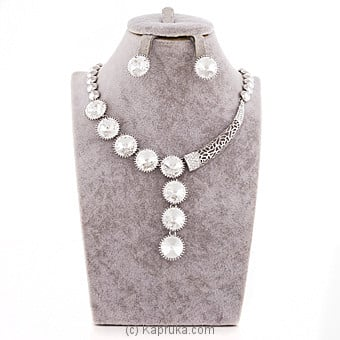 White Crystal Stones Jewelry Set at Kapruka Online for specialGifts