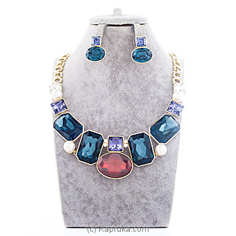 Colorful Crystal Stones Jewelry Set at Kapruka Online for specialGifts