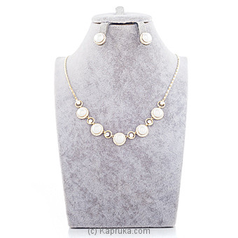 Pearls With Crystal Stones Jewelry Set at Kapruka Online for specialGifts