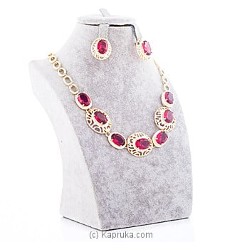 Red Crystal Stones Jewelry Set at Kapruka Online for specialGifts