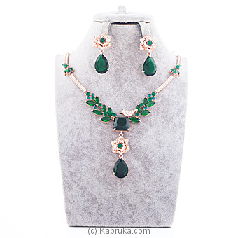 Green Crystal Jewelry Set at Kapruka Online for specialGifts
