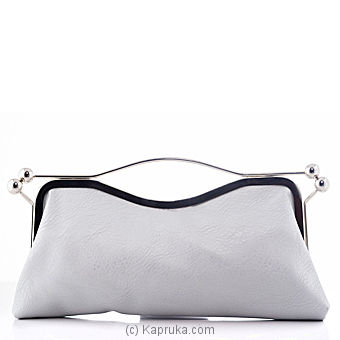 Stylish Silver Crystal Evening Clutch at Kapruka Online for specialGifts