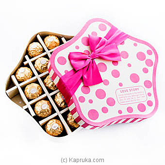 Pink Love 18 Piece Ferrero Chocolate Gift Box at Kapruka Online for specialGifts