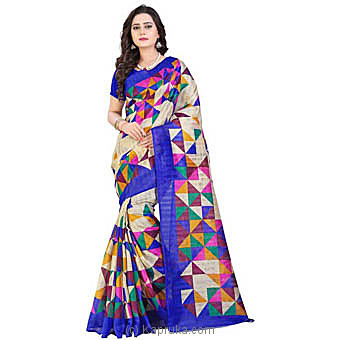 Stylish Cotton mix Silk designer Saree at Kapruka Online for specialGifts