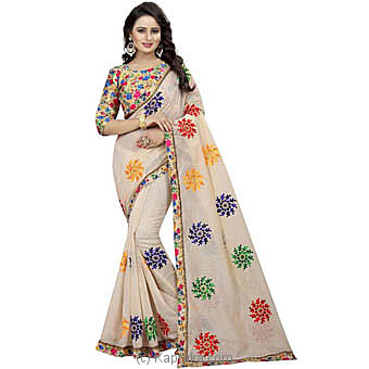Multi Color Embroidered Fashion Saree at Kapruka Online for specialGifts