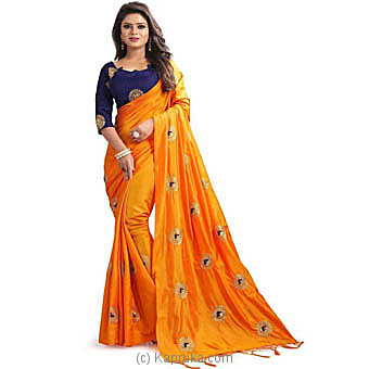 Embroidered Bollywood Silk Saree at Kapruka Online for specialGifts