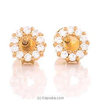 22K Gold  Ear Stud Set With 20 (c/z) Rounds at Kapruka Online for specialGifts