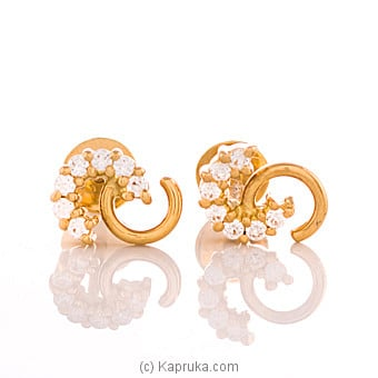 22K Gold Ear Stud Set With 14(c/z) Rounds at Kapruka Online for specialGifts