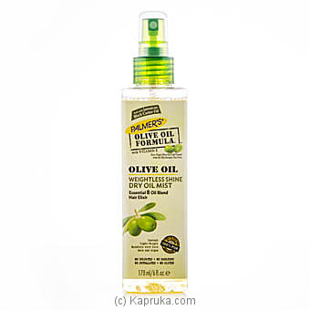 ​Palmer`s Olive Oil Weightless Shine Dry Oil Mist 178ml at Kapruka Online for specialGifts