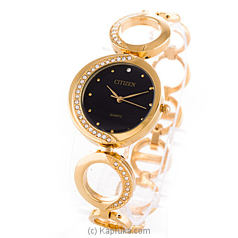 Gold Citizen Ladies Watch With Crystal Stones at Kapruka Online for specialGifts