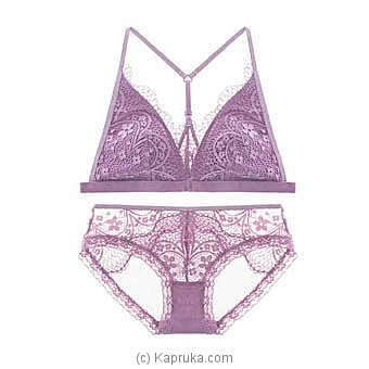Bandage Lace Bra And Brief Set-Purpleat Kapruka Online forspecialGifts