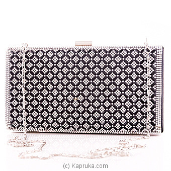 Black With Crystals Evening Clutch at Kapruka Online for specialGifts