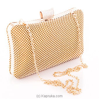 Stylish Gold Evening Clutch at Kapruka Online for specialGifts