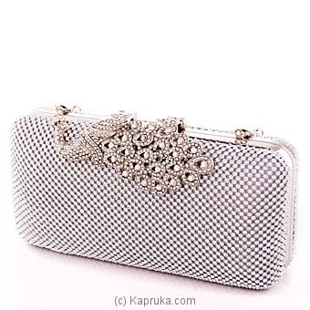 Stylish Crystal Peacock Evening Clutch at Kapruka Online for specialGifts