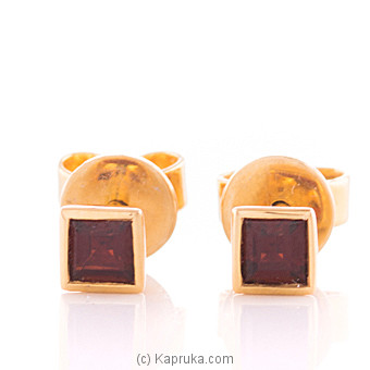 Vogue 18K Gold Ear Stud Set With 2 Color Stone(c/z) Round at Kapruka Online for specialGifts