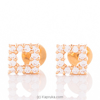 22K Gold Ear Stud Set With 24(c/z) Rounds at Kapruka Online for specialGifts