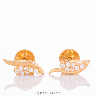 22K Gold Ear Stud Set With 14 (c/z) Rounds at Kapruka Online for specialGifts